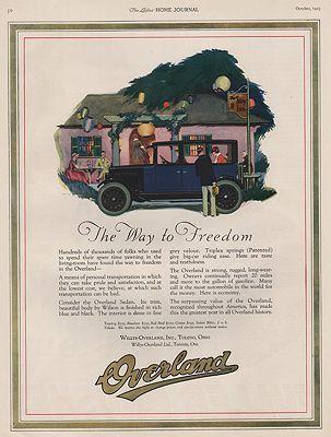 ORIG VINTAGE 1923 OVERLAND SEDAN CAR ADillustrator- N/A - Product Image