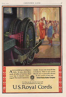 ORIG VINTAGE 1924 U.S. ROYAL CORDS ADillustrator- N/A - Product Image