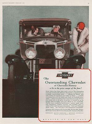 ORIG VINTAGE 1925 CHEVROLET CAR ADillustrator- Walter  Biggs - Product Image