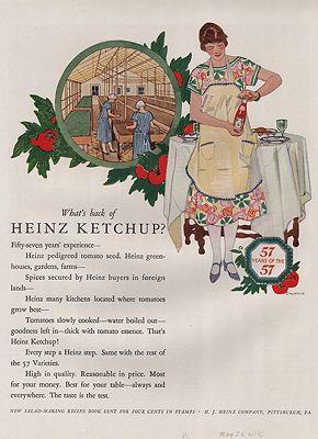 ORIG VINTAGE 1926 HEINZ KETCHUP ADillustrator- Rene  Clarke - Product Image