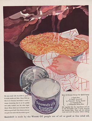 ORIG VINTAGE 1926 SNOWDRIFT ADillustrator- Rene  Clarke - Product Image
