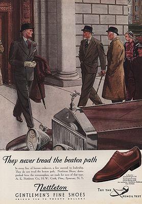 ORIG VINTAGE 1930s NETTLETON SHOE ADillustrator- Leslie  Saalburg - Product Image