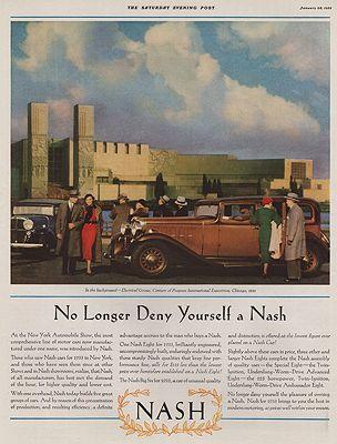 ORIG VINTAGE 1933 NASH AUTOMOBILE ADillustrator- N/A - Product Image