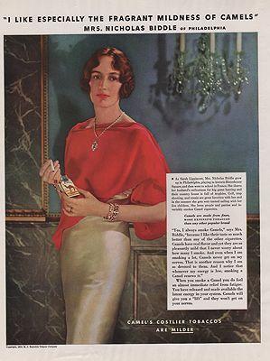 ORIG VINTAGE 1934 CAMEL CIGARETTES ADillustrator- N/A - Product Image