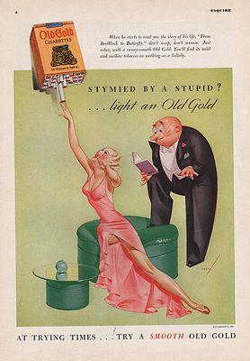 ORIG VINTAGE 1935 OLD GOLD CIGARETTE ADillustrator- N/A - Product Image