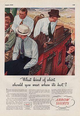 ORIG VINTAGE 1936 ARROW SHIRT ADillustrator- James  Williamson - Product Image