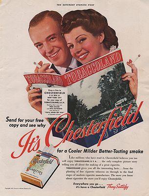 ORIG VINTAGE 1941 CHESTERFIELD CIGARETTES ADillustrator- N/A - Product Image