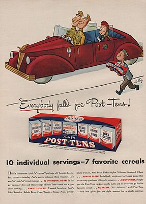 ORIG VINTAGE 1946 POST CEREAL ADillustrator- William   Steig - Product Image