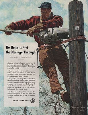 ORIG VINTAGE 1949 AT&T ADillustrator- Norman  Rockwell - Product Image