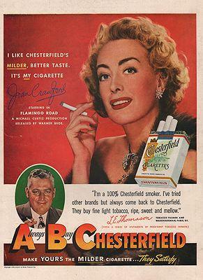 ORIG VINTAGE 1949 CHESTERFIELD CIGARETTES ADillustrator- N/A - Product Image