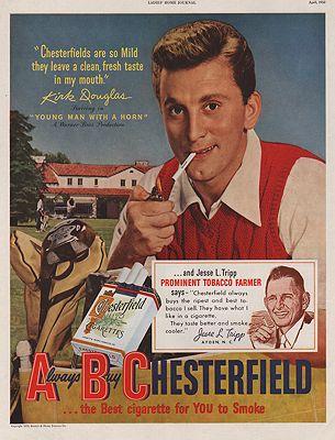 ORIG VINTAGE 1950 CHESTERFIELD CIGARETTES ADillustrator- N/A - Product Image