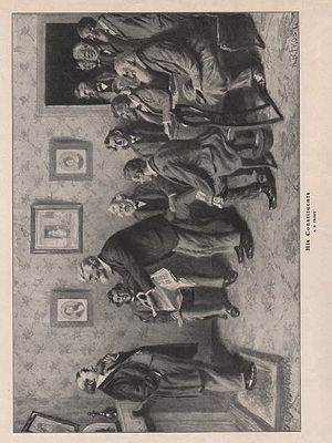 ORIG VINTAGE B&W PRINT/ HIS CONSTITUENTSFrost (Illust.), A.B., Illust. by: A.B.  Frost - Product Image