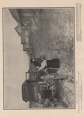 ORIG VINTAGE B&W PRINT/ THE PASSING OF THE FARMillustrator- W.L.  Taylor - Product Image