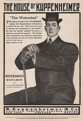 ORIG VINTAGE MAGAZINE AD = 1900s KUPPENHEIMER SUIT ADillustrator- N/A - Product Image