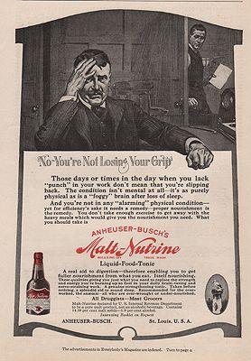 ORIG VINTAGE MAGAZINE AD = 1916 MALT-NUTRINE ADillustrator- N/A - Product Image