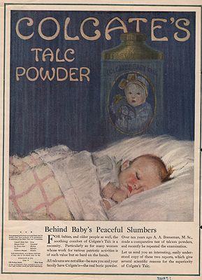 ORIG VINTAGE MAGAZINE AD / 1918 COLGATE'S TALC POWDER ADillustrator- N/A - Product Image