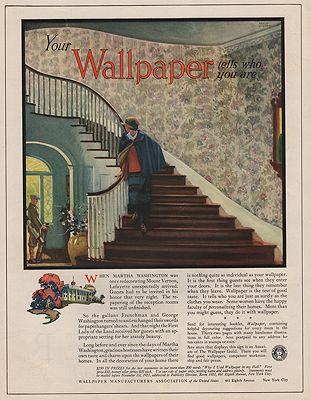 ORIG VINTAGE MAGAZINE AD / 1923 WALLPAPER MANUFACTURERS ASSOCIATION ADillustrator- Edward A.  Wilson - Product Image