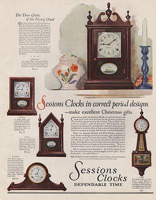 ORIG VINTAGE MAGAZINE AD / 1928 SESSIONS CLOCKS ADillustrator- N/A - Product Image