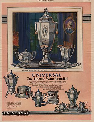 ORIG VINTAGE MAGAZINE AD / 1928 UNIVERSAL ELECTRIC WARE ADillustrator- N/A - Product Image