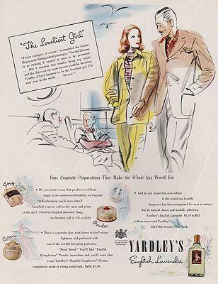 ORIG VINTAGE MAGAZINE AD / 1940 YARDLEY'S ENGLISH LAVENDER ADillustrator- N/A - Product Image