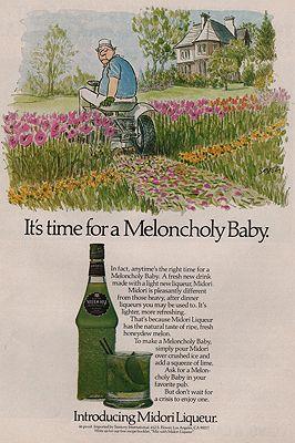 ORIG VINTAGE MAGAZINE AD / 1978 MIDORI MELON LIQUEUR ADillustrator- Charles  Saxon - Product Image