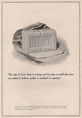 ORIG. VINTAGE MAGAZINE AD: 1894 IVORY SOAP ADillustrator- N/A - Product Image