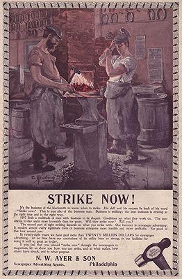 ORIG. VINTAGE MAGAZINE AD: 1894 N.W. AYER & SON ADillustrator- Charlotte  Harding - Product Image