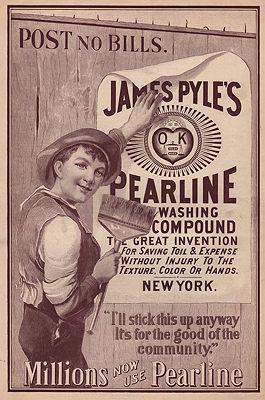 ORIG. VINTAGE MAGAZINE AD: 1894 PEARLINE SOAP ADillustrator- N/A - Product Image