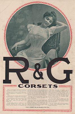 ORIG. VINTAGE MAGAZINE AD: 1894 R & G CORSETS ADillustrator- N/A - Product Image