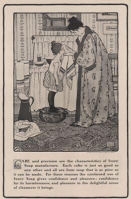 ORIG VINTAGE MAGAZINE AD/ 1901 IVORY SOAP ADillustrator- Jessie Wilcox  Smith - Product Image