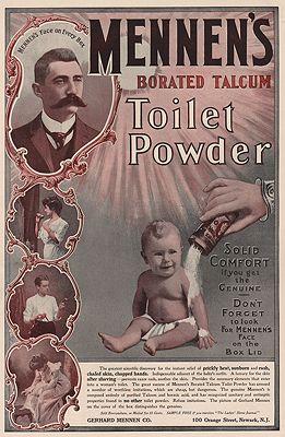 ORIG VINTAGE MAGAZINE AD/ 1901 MENNEN'S TALCUM POWDER ADN/A - Product Image
