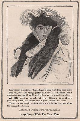 ORIG. VINTAGE MAGAZINE AD: 1905 IVORY SOAP ADillustrator- Alice Barber  Stephens - Product Image