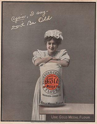 ORIG VINTAGE MAGAZINE AD/ 1908 WASHBURN-CROSBY FLOUR ADillustrator- N/A - Product Image