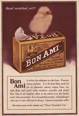 ORIG VINTAGE MAGAZINE AD/ 1909 BON AMI CLEANSER ADillustrator- N/A - Product Image
