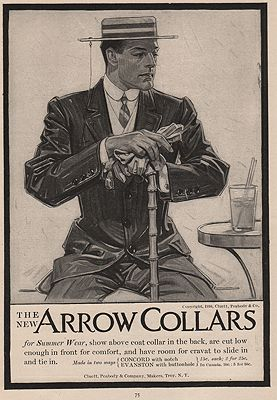 ORIG. VINTAGE MAGAZINE AD: 1910 ARROW SHIRT COLLAR ADillustrator- J.C.  Leyendecker - Product Image