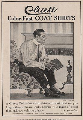 ORIG. VINTAGE MAGAZINE AD: 1911 CLUETT SHIRT ADillustrator- J.C.  Leyendecker - Product Image