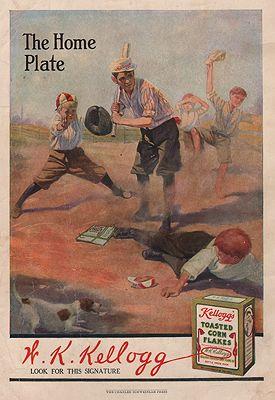 ORIG. VINTAGE MAGAZINE AD/ 1912 KELLOGG'S CORN FLAKES ADillustrator- N/A - Product Image