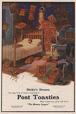 ORIG. VINTAGE MAGAZINE AD: 1912 POST TOASTIES CEREAL ADillustrator- N/A - Product Image