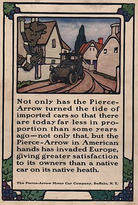 ORIG VINTAGE MAGAZINE AD/ 1913  PIERCE-ARROW CAR ADillustrator- N/A - Product Image