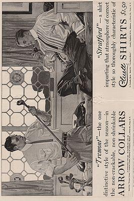 ORIG. VINTAGE MAGAZINE AD: 1914 ARROW SHIRT ADillustrator- J.C.  Leyendecker - Product Image