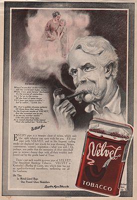 ORIG VINTAGE MAGAZINE AD/ 1914 VELVET TOBACCO ADillustrator- N/A - Product Image