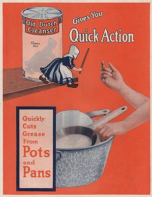 ORIG VINTAGE MAGAZINE AD/ 1915 OLD DUTCH CLEANSER ADillustrator- N/A - Product Image