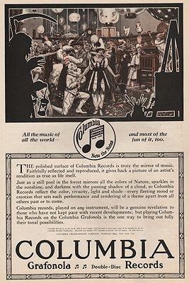 ORIG VINTAGE MAGAZINE AD/ 1916 COLUMBIA GRAFONOLA RECORDS ADillustrator- N/A - Product Image