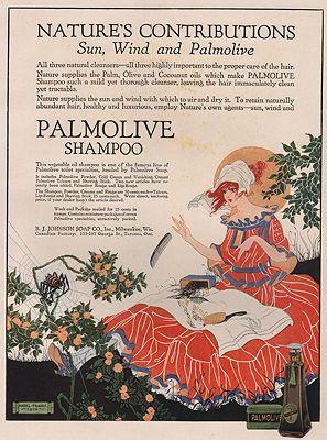 ORIG VINTAGE MAGAZINE AD/ 1916 PALMOLIVE SHAMPOO ADillustrator- Hazel  Frazee - Product Image