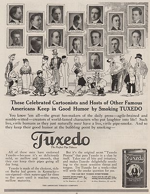 ORIG VINTAGE MAGAZINE AD/ 1916 TUXEDO TOBACCO ADillustrator- N/A - Product Image