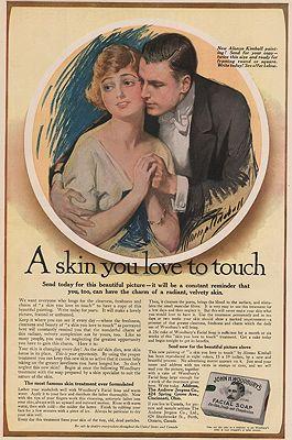 ORIG VINTAGE MAGAZINE AD/ 1916 WOODBURY SOAP ADillustrator- Alonzo   Kimball - Product Image