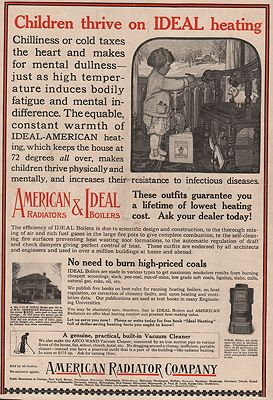 ORIG VINTAGE MAGAZINE AD/ 1917 AMERICAN RADIATOR CO. ADN/A - Product Image