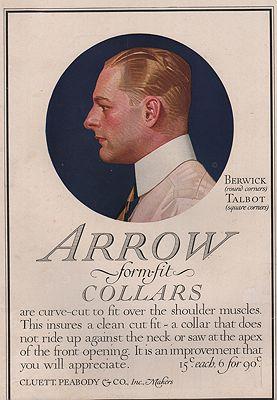 ORIG. VINTAGE MAGAZINE AD: 1917 ARROW SHIRT COLLAR ADillustrator- J.C.  Leyendecker - Product Image