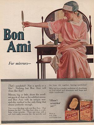 ORIG VINTAGE MAGAZINE AD/ 1917 BON AMI  ADillustrator- Cushman  Parker - Product Image