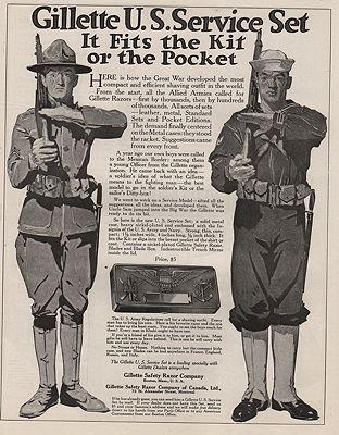 ORIG VINTAGE MAGAZINE AD/ 1917 GILLETTE SAFETY RAZOR ADillustrator- N/A - Product Image